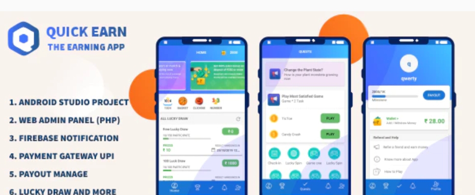Quick Earn Lucky Draw App Source Code