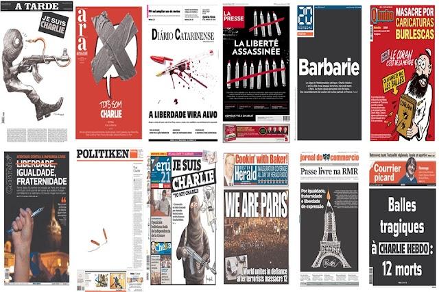 "Atacul de la Charlie Hebdo, în ziare. Top 55 ""deschideri"""