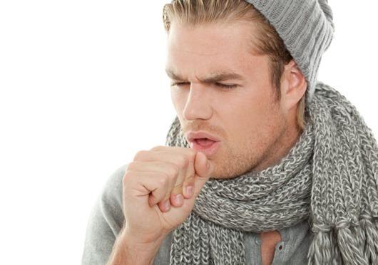Closeup cough