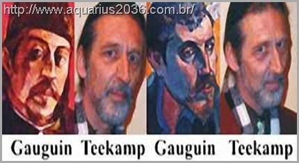 A reencarnação de Paul Gauguin como Peter Teekamp