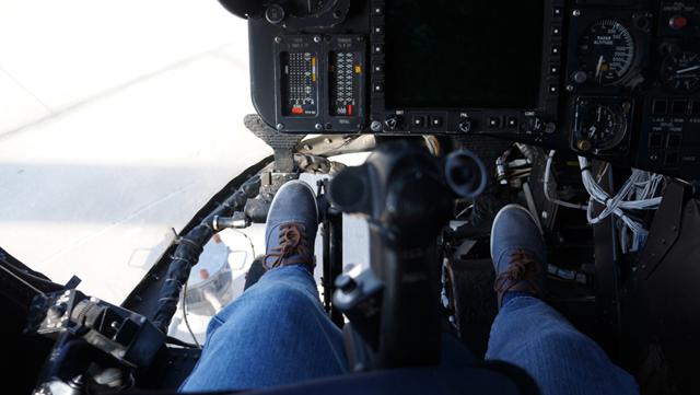 En un helicóptero