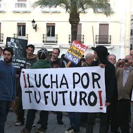 Manifestación Plataforma Contra el Paro en Montijo