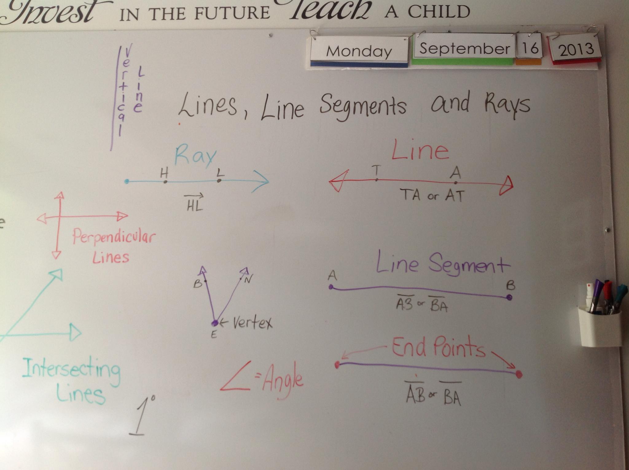 My Three Seeds Of Joy Homeschool Lines Line Segments And
