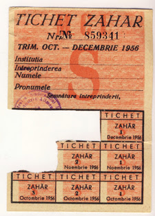 Ticket for sugar