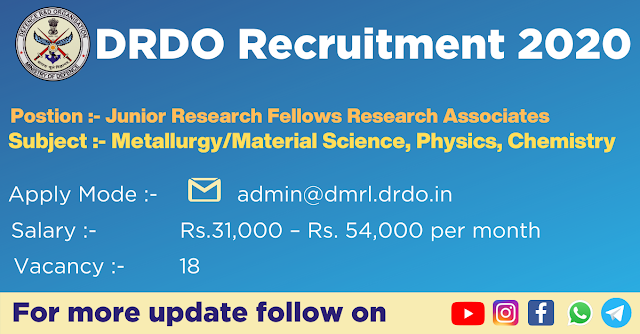 DRDO Recruitment 2020 | Without GATE | Jobs in Physics