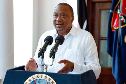President Uhuru Kenyatta gives the State of the Nation address at Mombasa statehouse. PHOTO | BMS