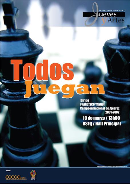Todos Juegan Ajedrez en la USFQ! Jueves y Artes 13h00