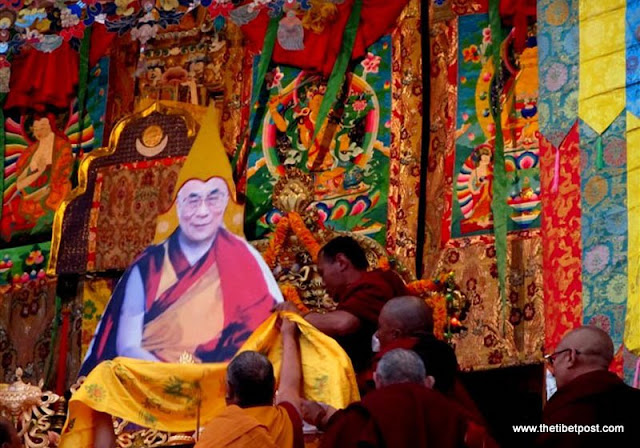 Breathtaking photos demonstrate the Tibetan people's unparalleled faith in His Holiness the Dalai Lama and their astounding courage. 5000 Tibetans enthrone life-size Dalai Lama portrait at religious gathering in Tibet. (Tendor - SFT Director) - photo courtesy www.thetibetpost.com