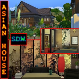 sims4 asian house