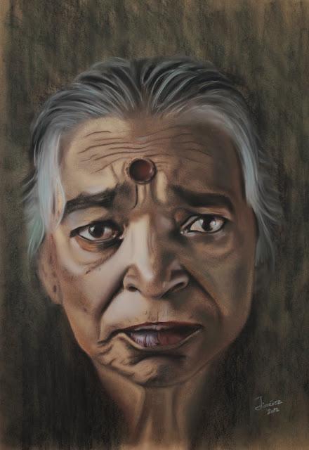 El peso de la vida,pintura retrato de Oscar Jiménez