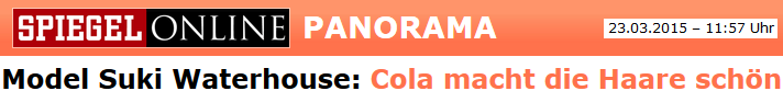 Cola macht die Haare klebrig