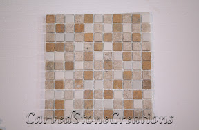 1x1, Flooring, Flooring & Mosaics, Gold, Interior, Marble, Mosaic, Natural, Stone, Tile, Travertine, Tumbled