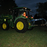 """Russ Miller (""""Ranger Russ"""") had the park's tractor with the auger attachment. Digging 210 holes by hand would have taken forever."""