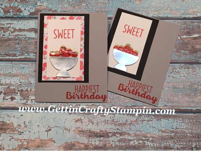 Created At Our Facebook GettinCraftyStampin LIVE Class This Past Monday We Had Fun Creating Stylishly Sweet Hand Made Birthday Card