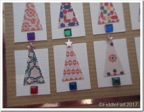 Punched Christmas Tree Card 1