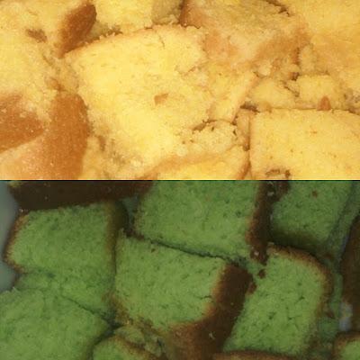 Kek Pandan Dan Kek Oren