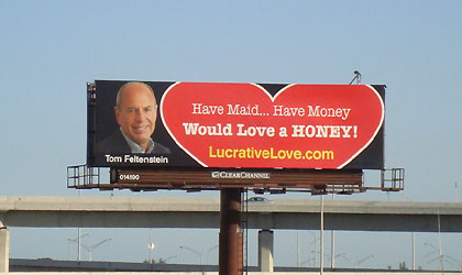 Millionaire Looks For Love On Billboard Image