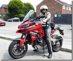 Helen on the Multistrada