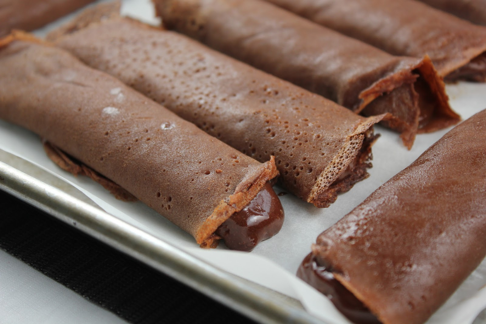 Frozen Chocolate Crêpes - That Skinny Chick Can Bake