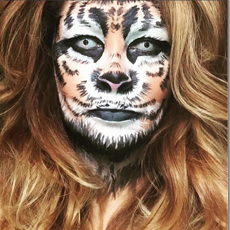 maquillaje de león para halloween