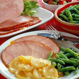 Ham with Fruit Glaze.