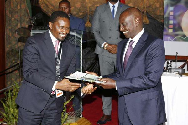 Deputy President William Ruto with Mwangi Kiunjuri