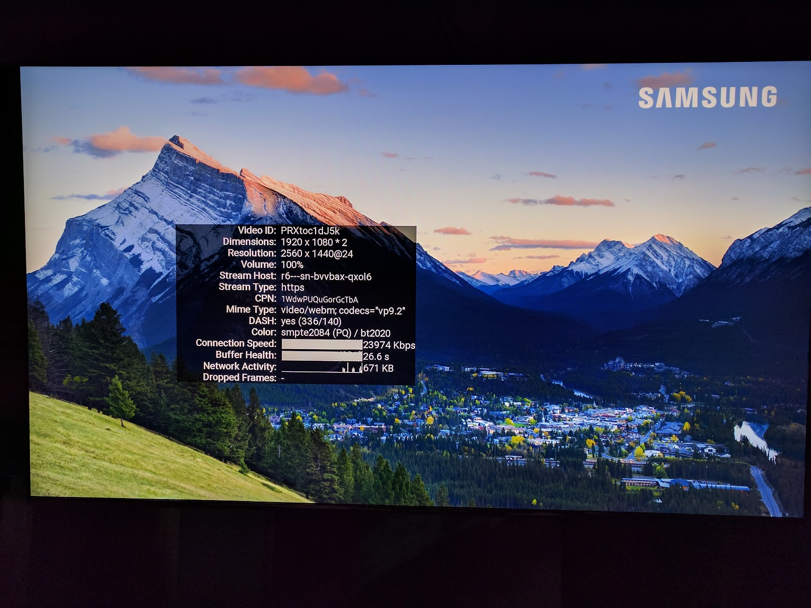Madison : Youtube not playing in 4k samsung tv