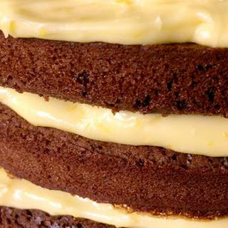 Chocolate Gingerbread Cake with Orange Curd Cream Recipe