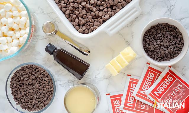 easy fudge recipe ingredients