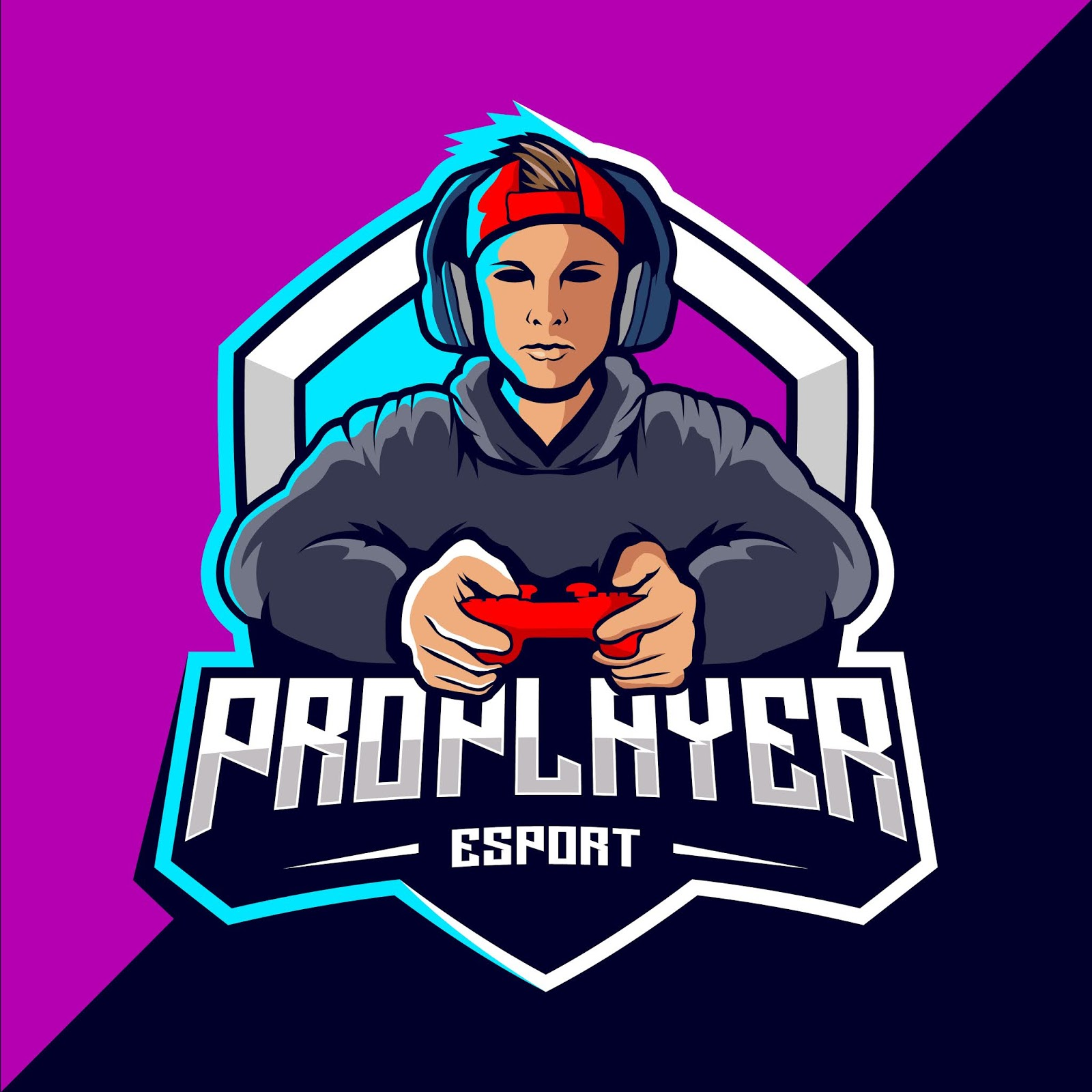 Pro Player Esport Game Logo Design Free Download Vector CDR, AI, EPS and PNG Formats