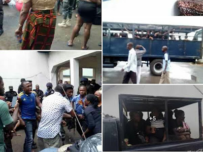 PHOTOS: HAPPENING LIVE! Tears As Magistrate Court Denied 144 Women bail.