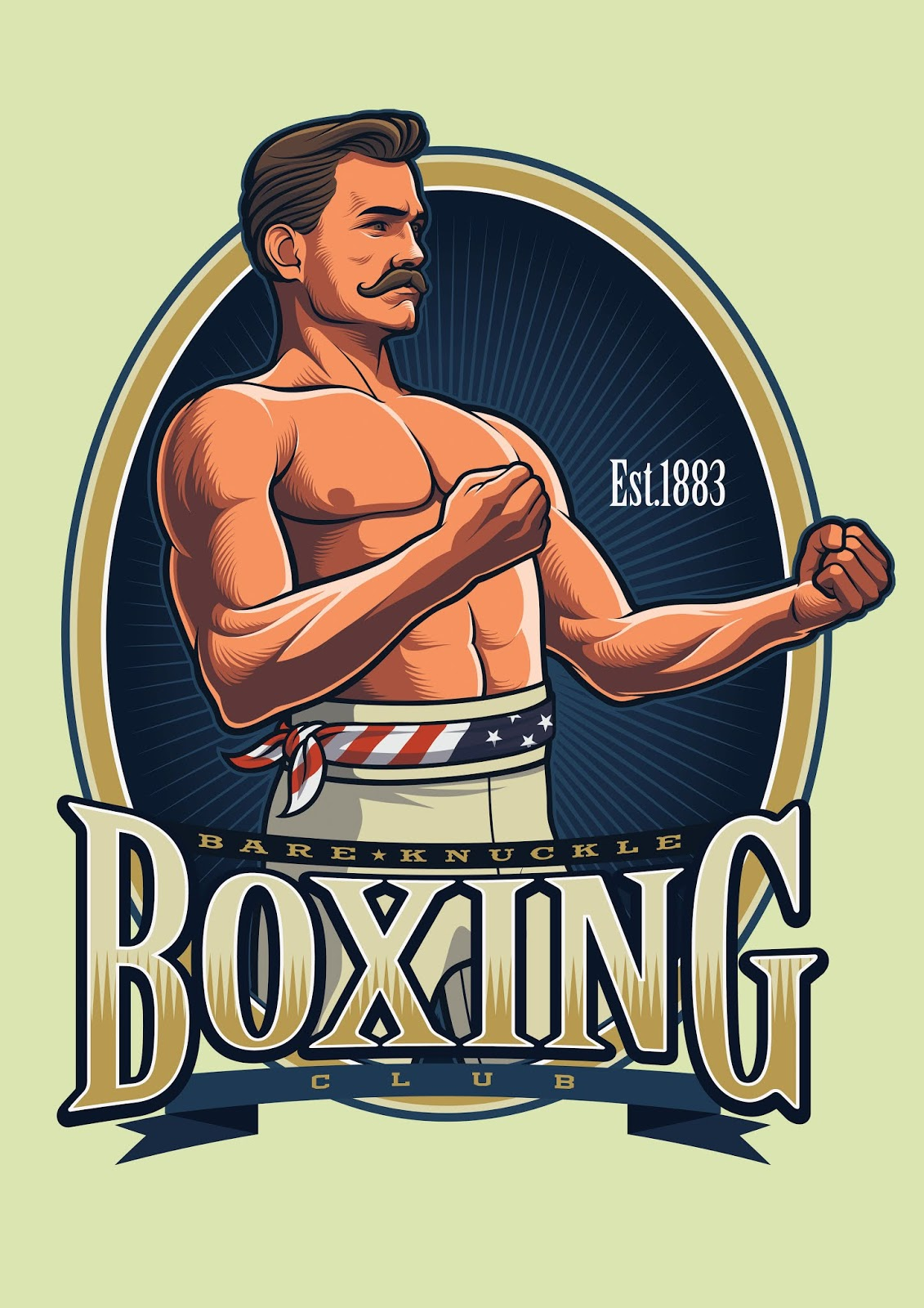 Vintage Boxing Logo Template Free Download Vector CDR, AI, EPS and PNG Formats