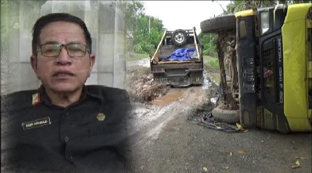 Sekdakab Kotabaru; Kami Sudah Minta Pemprop Kalsel Perbaiki Jalan Poros Tanjung Serdang - Lontar