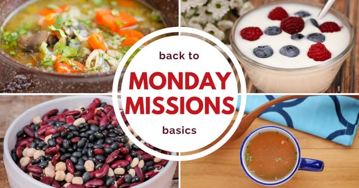 Sign up for weekly missions to take baby steps to real food!