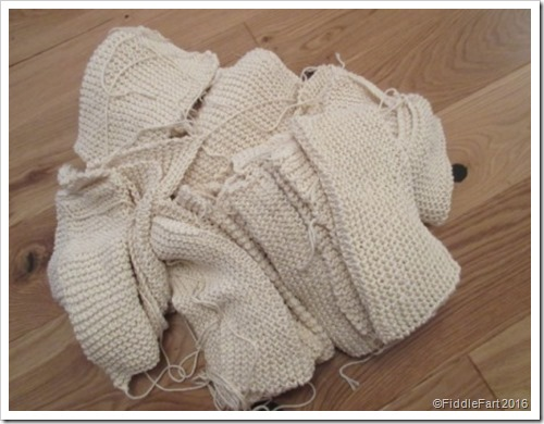 basis garter stitch knitted dishclothes