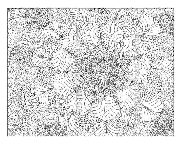 Pen Illustration Printable Coloring Page Zentangle Inspired Henna Or Mehndi  Inspired Indian Designs Like Mandala Abstract Abstract Coloring  Pagespattern