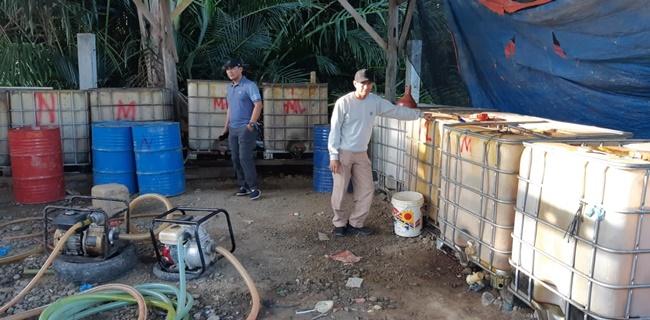 Polda Aceh Bongkar Penimbunan BBM Bersubsidi Oplosan