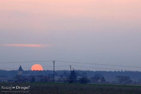 Zachód słońca na Śląsku