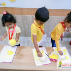 YELLOW DAY CELEBRATION BY PLAYGROUP SECTION ( 2017-18 ) AT WITTY WORLD BANGUR NAGAR