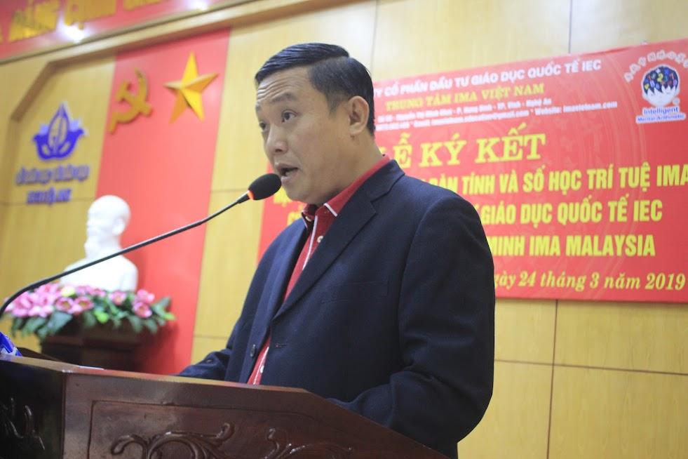 Ông Sam Sai, Tổng Giám đốc Tập đoàn giáo dục thông minh IMA Malaysia phát biểu tại chương trình
