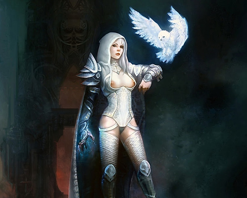 Magician Girl And A White Owl, Wicca Girls