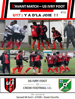 PROGRAMME MATCH US IVRY FOOT - CROIX FOOTBALL 04-04-2015