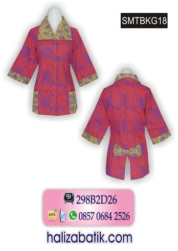 atasan batik wanita, model blus batik, butik online