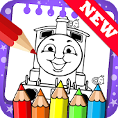 Draw colouring pages Thomas Train Friends by Fans