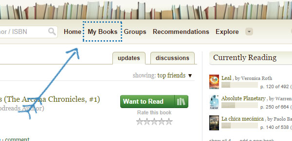 Tutorial Goodreads estantería wishlist