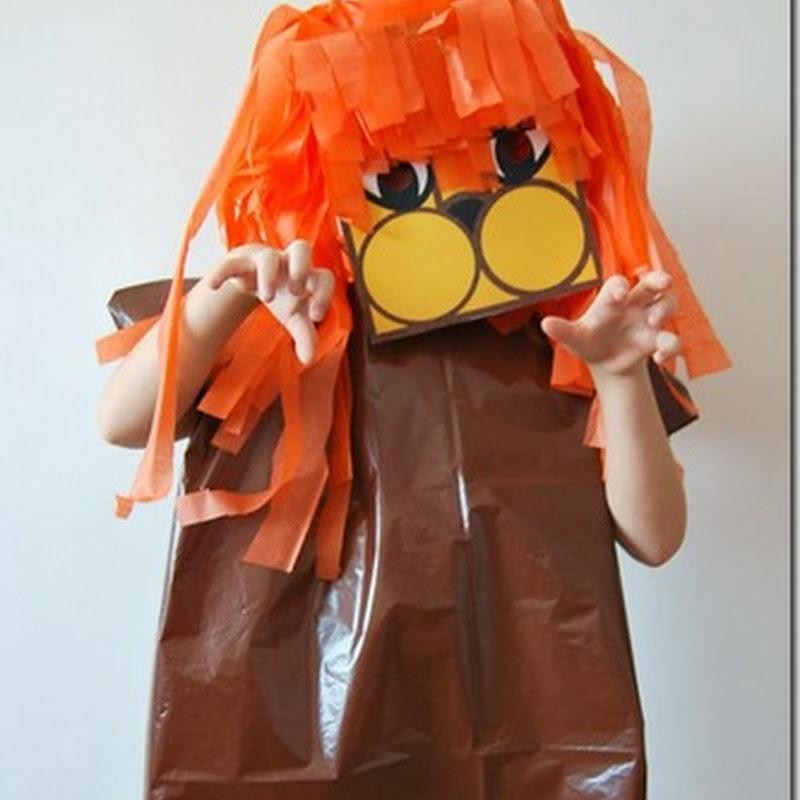hacer Disfraz de león con bolsa de basura