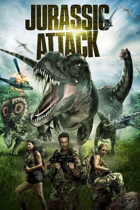 Poster Of Jurassic Attack (2013) Full Movie Hindi Dubbed Free Download Watch Online At Alldownloads4u.Com