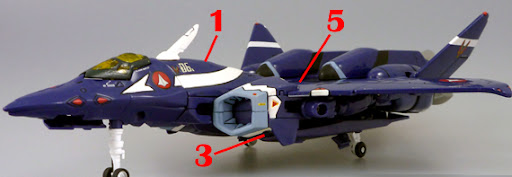 Macross VF-X2 VF-22 VF-X Ravens Armament weapon position