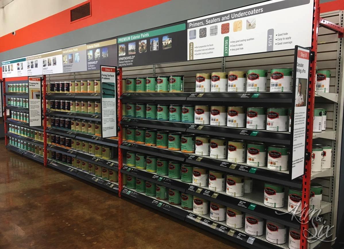 Paint Store Shelves