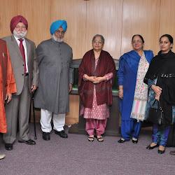 Roopinder Singh, Dr Amrik Singh Chattha, Bhayee Sikandar Singh, Mrs Gursharan Kaur, Sunit Kaur and Amarinder Singh